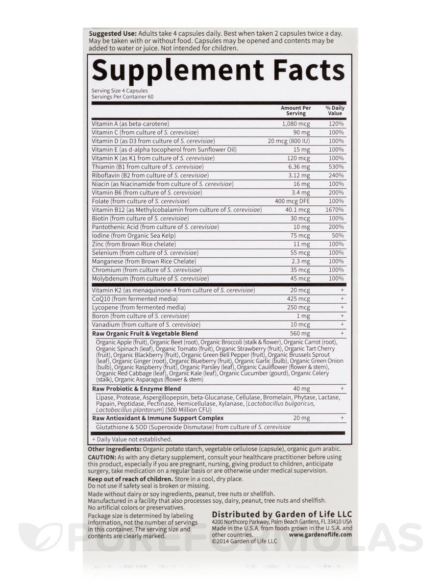 Image Result For Garden Of Life Vitamin Code For Men