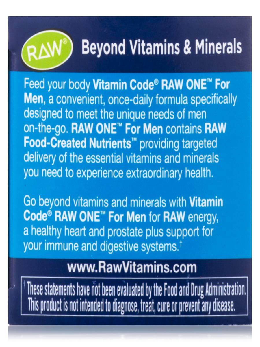 Vitamin Code Raw One For Men 30 Vegetarian Capsules
