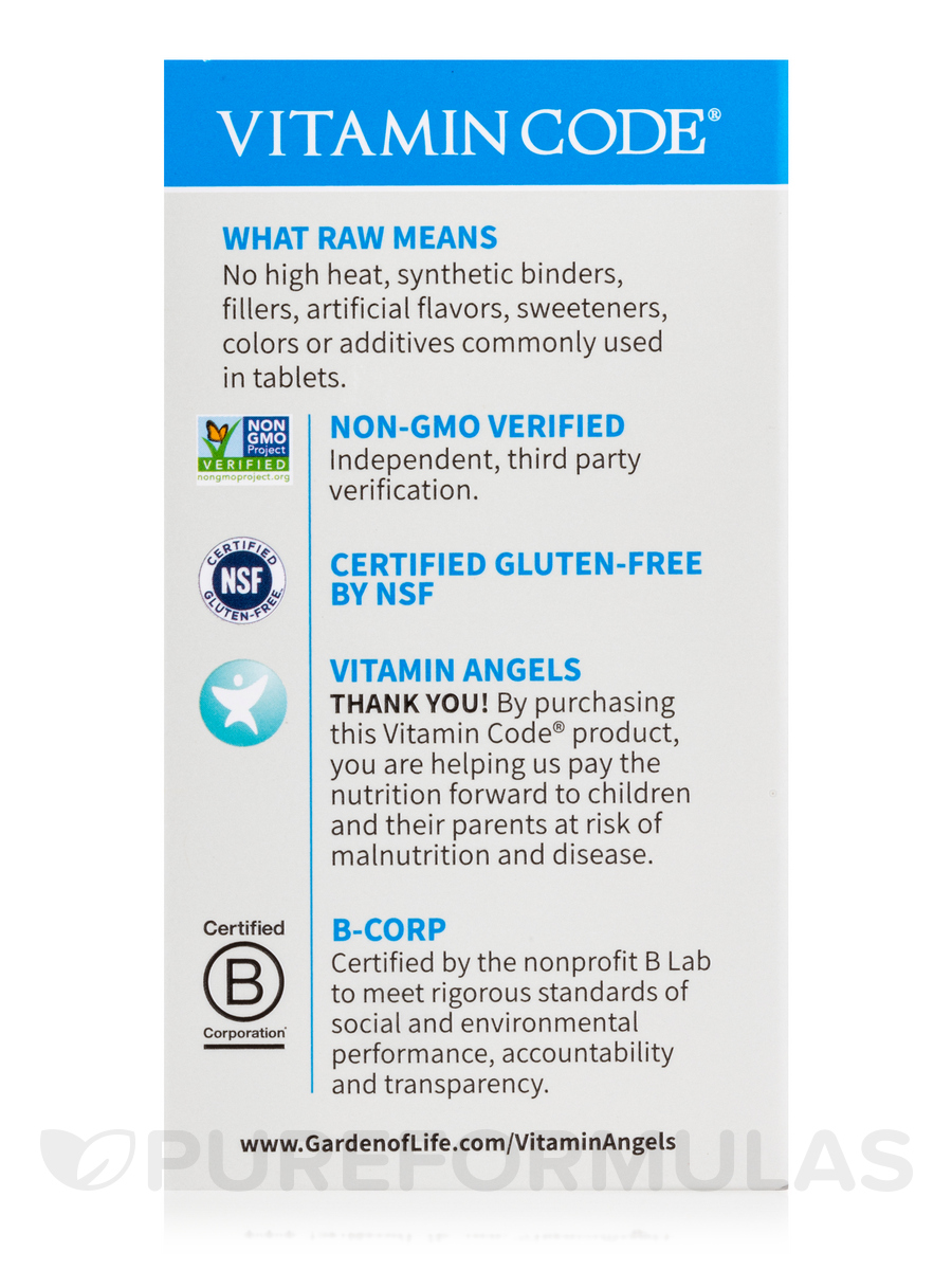 Vitamin code raw one for men 30 vegetarian capsules - Garden of life multivitamin for men ...