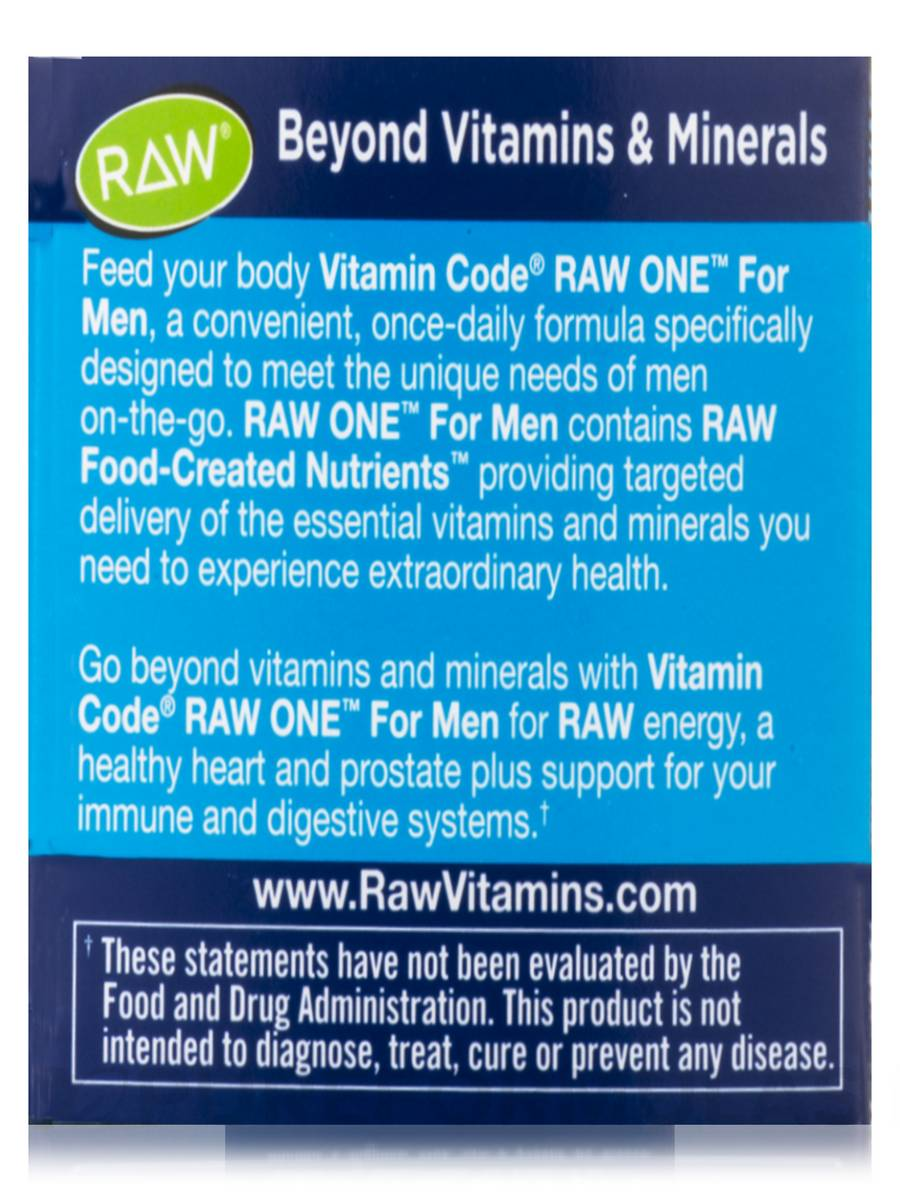 Code RAW One for Men 75 Vegetarian Capsules