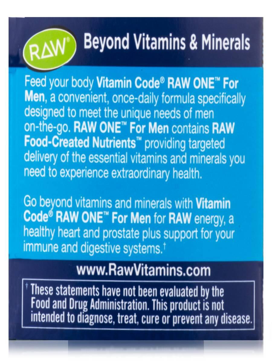 Šifra sirovina za muškarce 75 vegetarijanskih kapsula, Code RAW Jedan za muškarce 75 vegetarijanskih kapsula