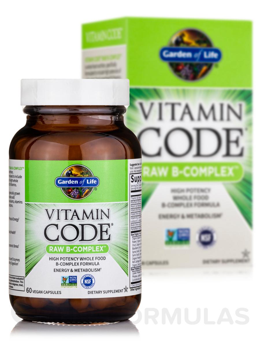 Vitamin code raw b complex 60 vegan capsules - Garden of life multivitamin review ...