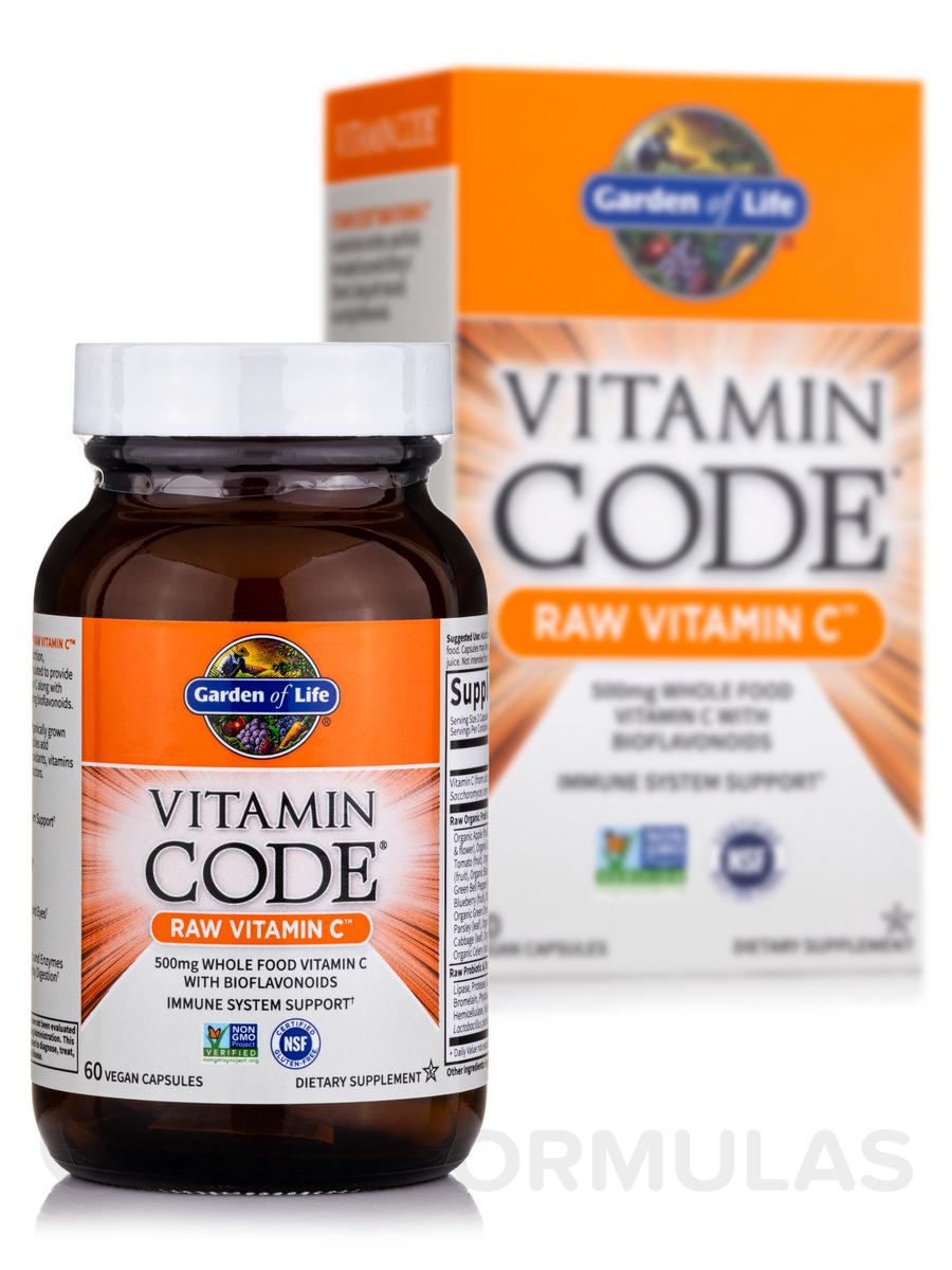 Vitamin code raw vitamin c 60 vegan capsules - Garden of life multivitamin review ...