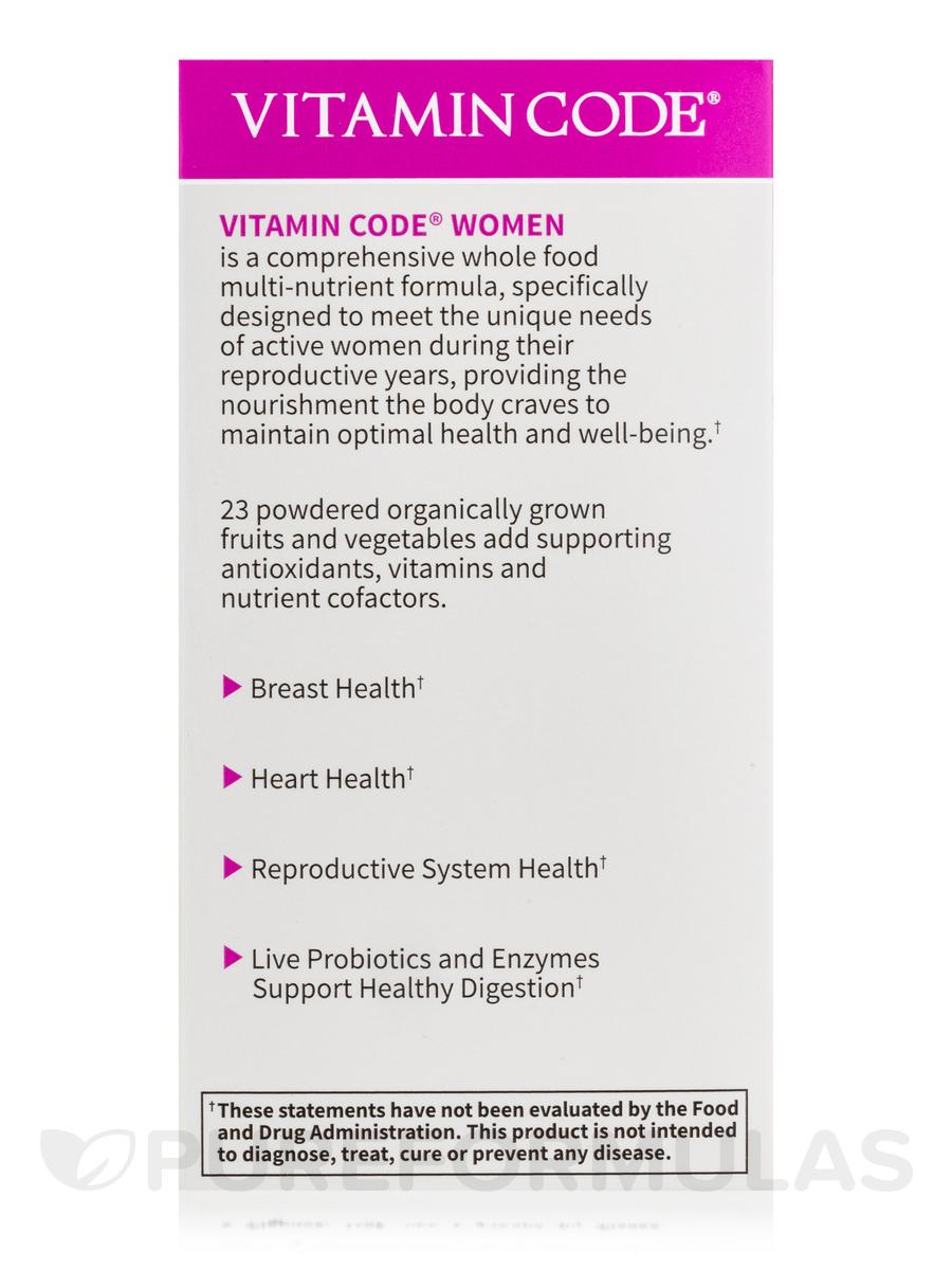 Vitamin Code Women 39 S Multi 120 Vegetarian Capsules