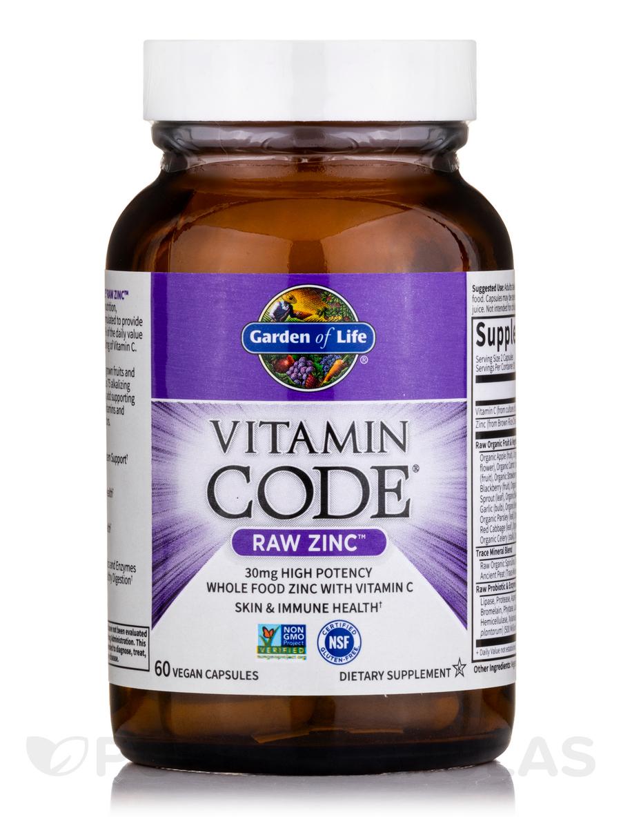 Code RAW Zinc 60 Vegan Capsules