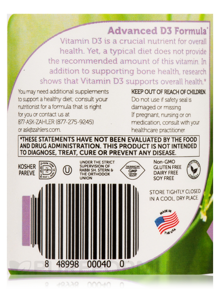 Vitamin D3 3000 IU - 250 Softgels