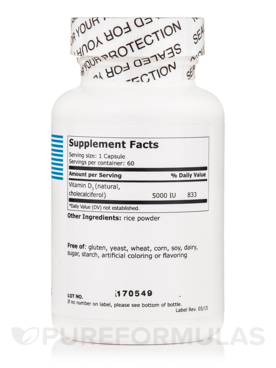 Vitamin D3 5000 IU - 60 Vegetarian Capsules