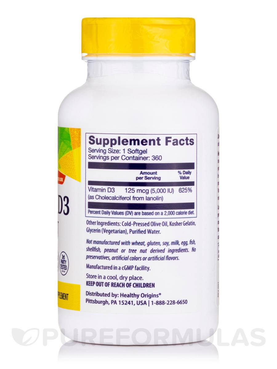 Vitamin D3 5000 IU - 360 Softgels