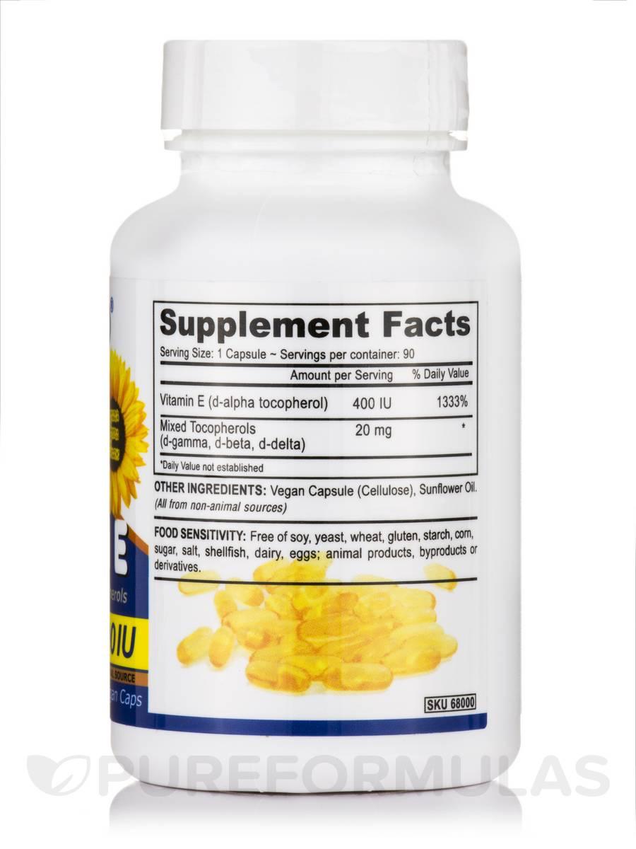 Vegan Vitamin E 400 Iu With Mixed Tocopherols 90 Vegan