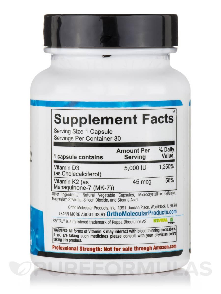 Vitamin K2 with D3 - 30 Capsules