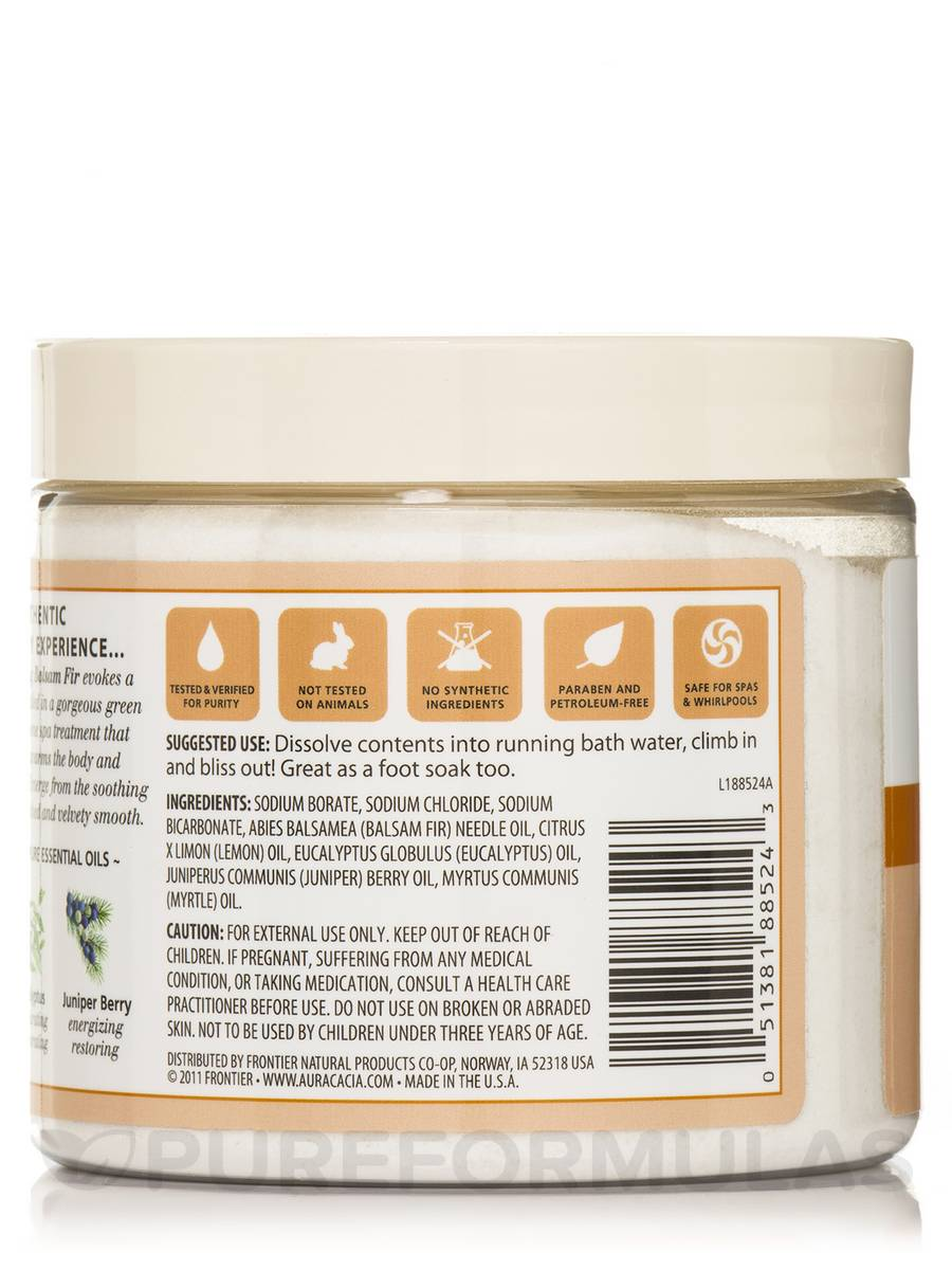 16 Soothing Spas And Saunas: Warming Balsam Fir Mineral Bath Salts (Soothing Heat)