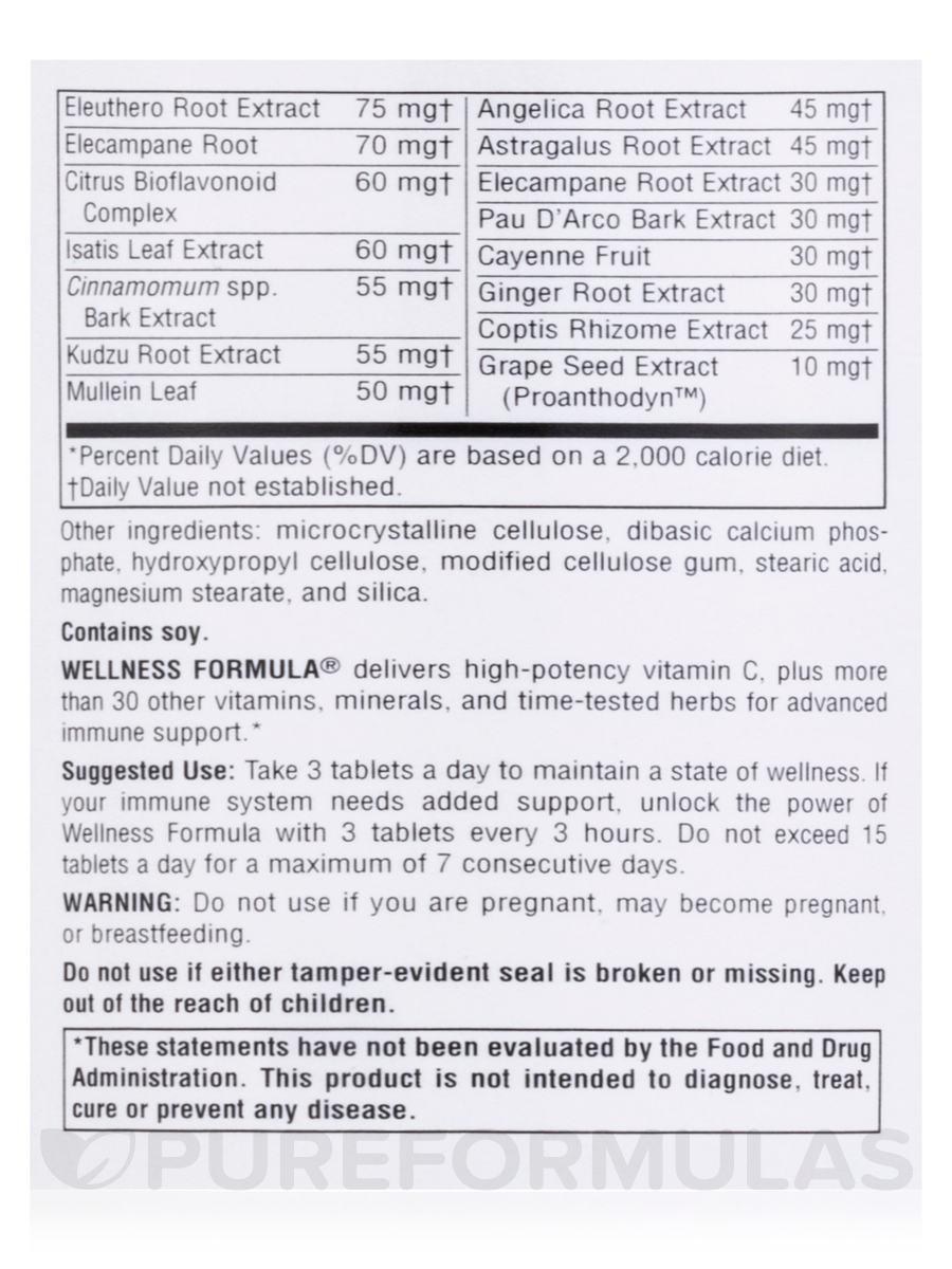Wellness Formula 174 180 Tablets
