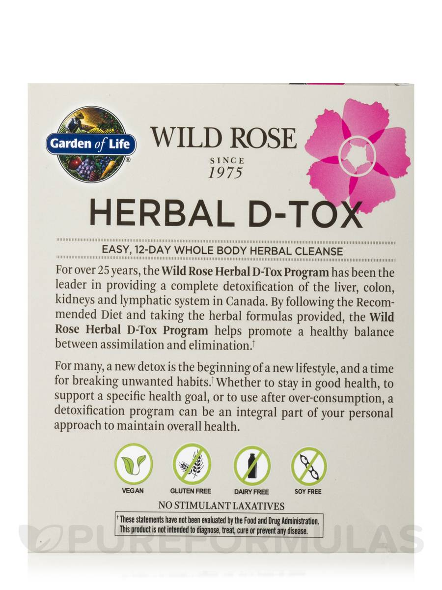 Garden of life wild rose herbal d tox kit reviews garden ftempo for Garden of life raw cleanse reviews