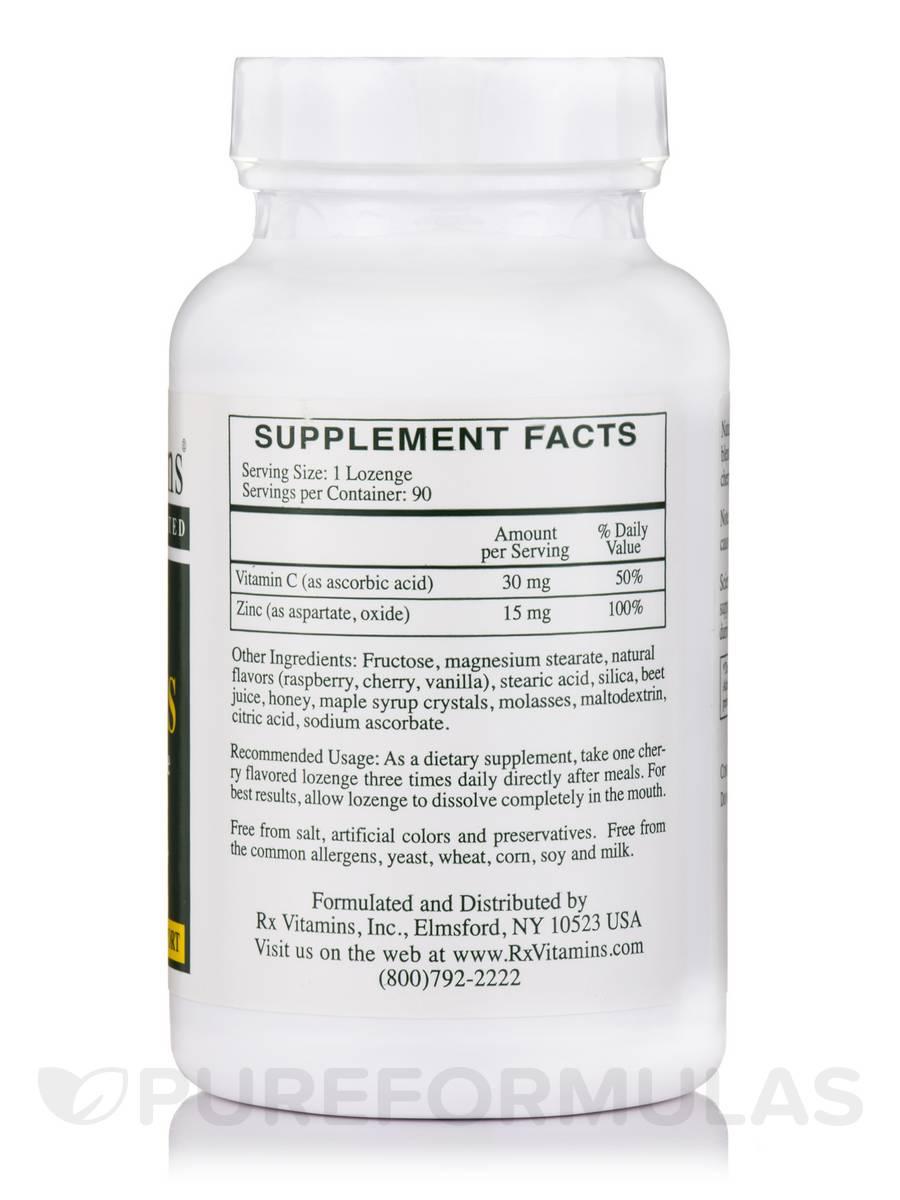 Zinc 46 Mg Zinc Aspartate With Vitamin C 90 Lozenges