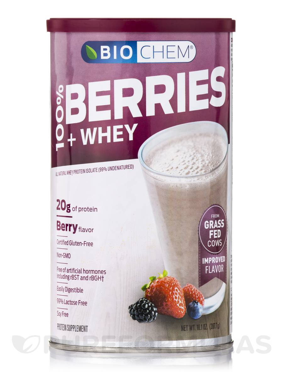 100% Berries & Whey Powder, Berry Flavor - 10.1 oz. (287.7 Grams)