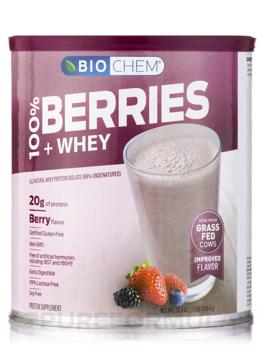 100% Berries & Whey Powder, Berry Flavor - 20.3 oz (575.4 Grams)