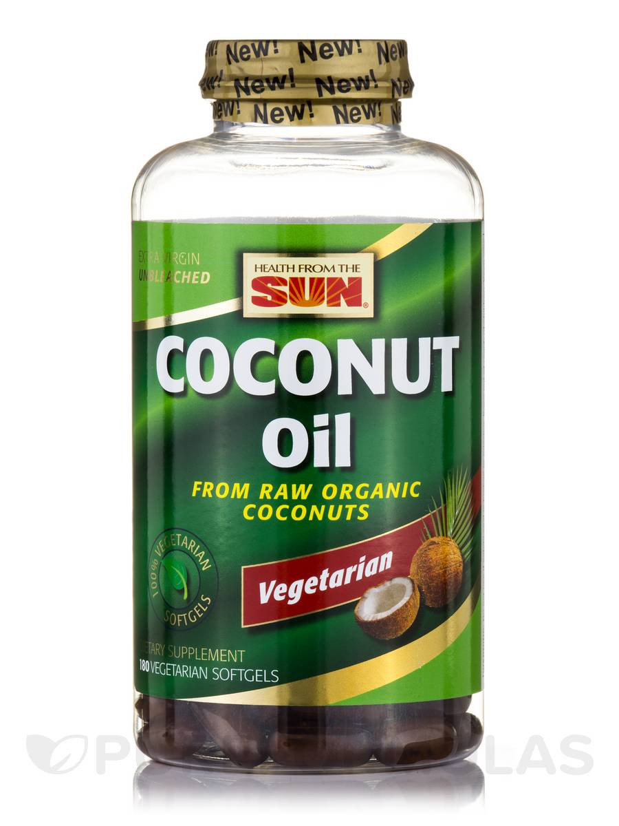 100% Coconut Oil - 180 Vegetarian Softgels