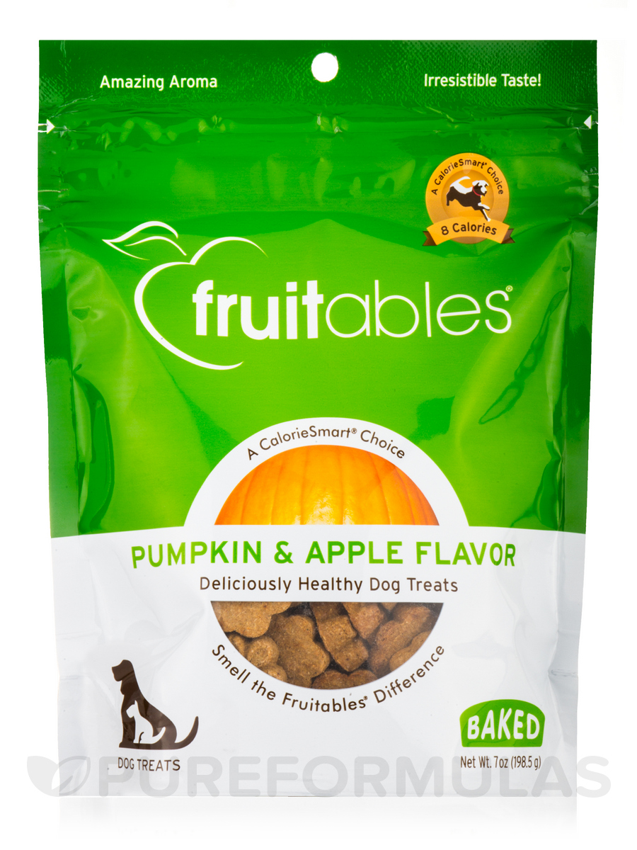 100 % Natural Crunchy Dog Treats, Pumpkin & Apple Flavor - 7 oz (198.5 Grams)