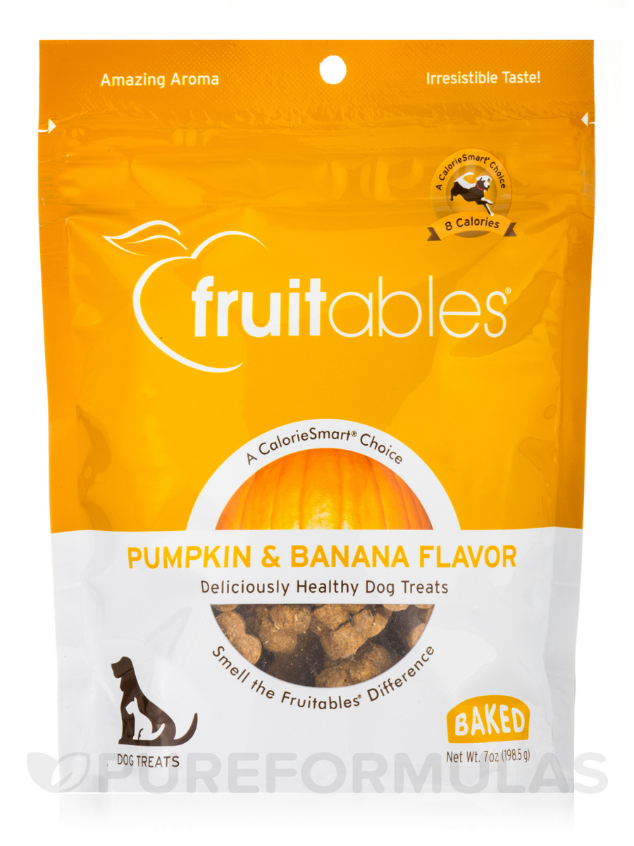 100 % Natural Crunchy Dog Treats, Pumpkin & Banana Flavor - 7 oz (198.5 Grams)