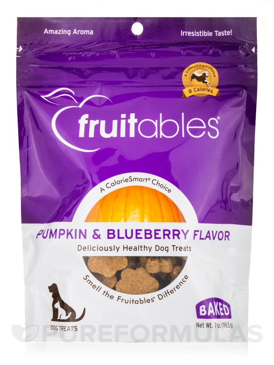 100 % Natural Crunchy Dog Treats, Pumpkin & Blueberry Flavor - 7 oz (198.5 Grams)