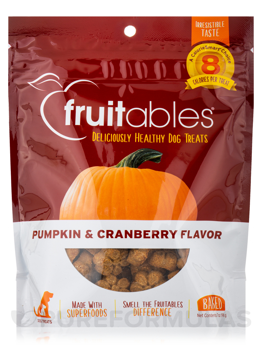 100 % Natural Crunchy Dog Treats, Pumpkin & Cranberry Flavor - 7 oz (198.5 Grams)