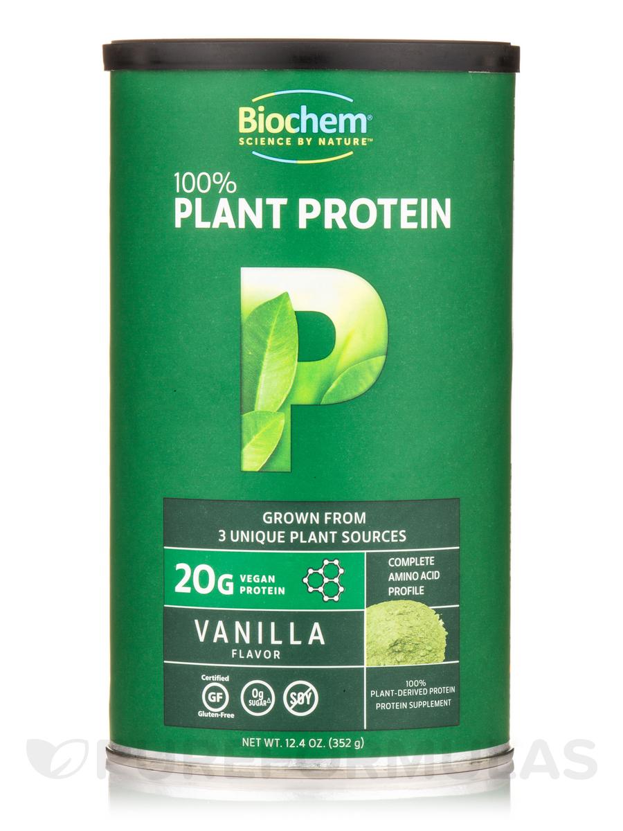 100% Plant Protein, Vanilla Flavor - 12.4 oz(352 Grams)