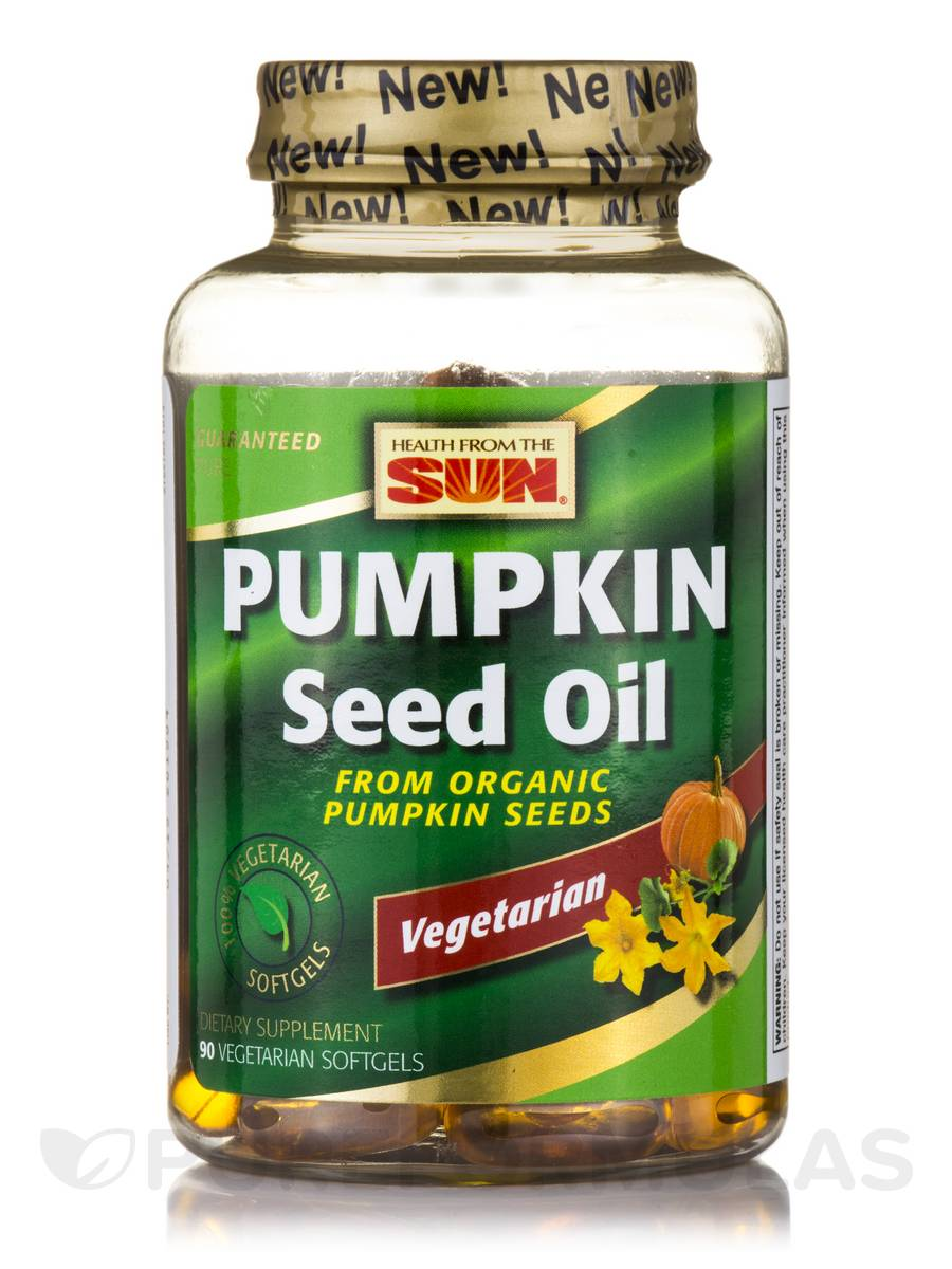 100% Vegetarian Pumpkin Seed Oil - 90 Vegetarian Softgels