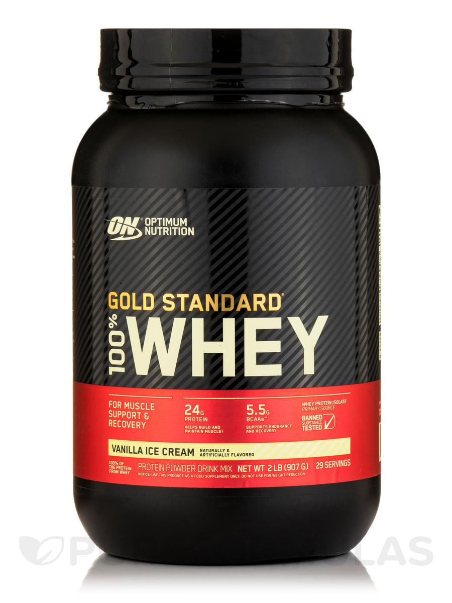 Gold Standard 100% Whey™ Vanilla Ice Cream - 2 lbs (909 Grams)