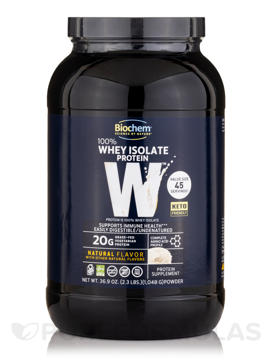 100% Whey Isolate Protein Powder, Natural Flavor - 36.9 oz (1,048 Grams)
