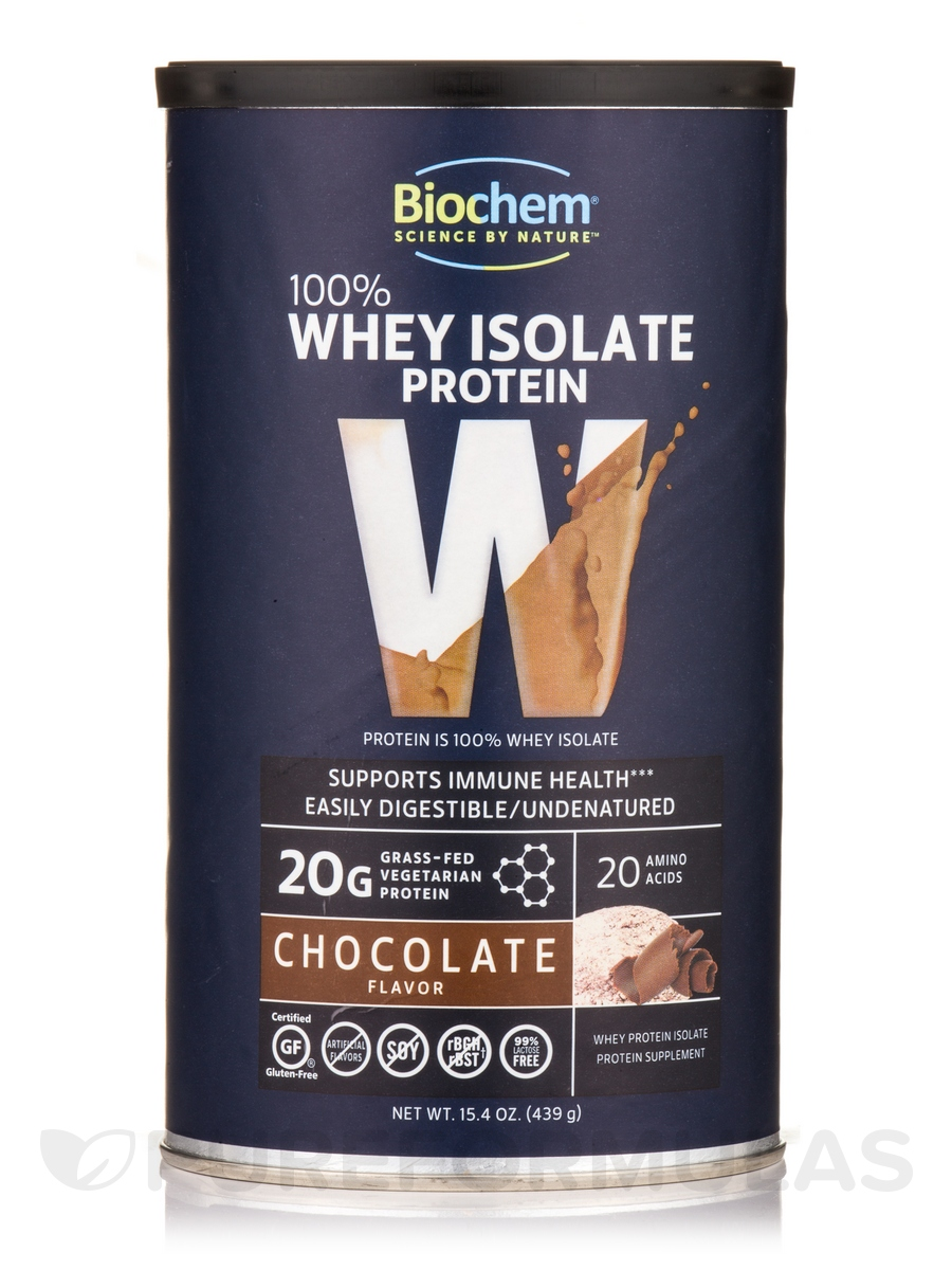 100% Whey Protein Powder, Chocolate Flavor - 15.4 oz (439 Grams)