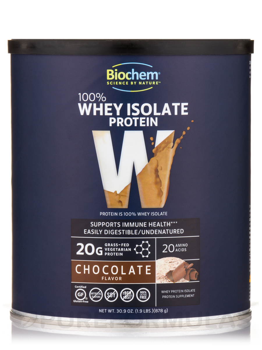 100% Whey Protein Powder, Chocolate Flavor - 1.9 lbs (30.9 oz / 878 Grams)