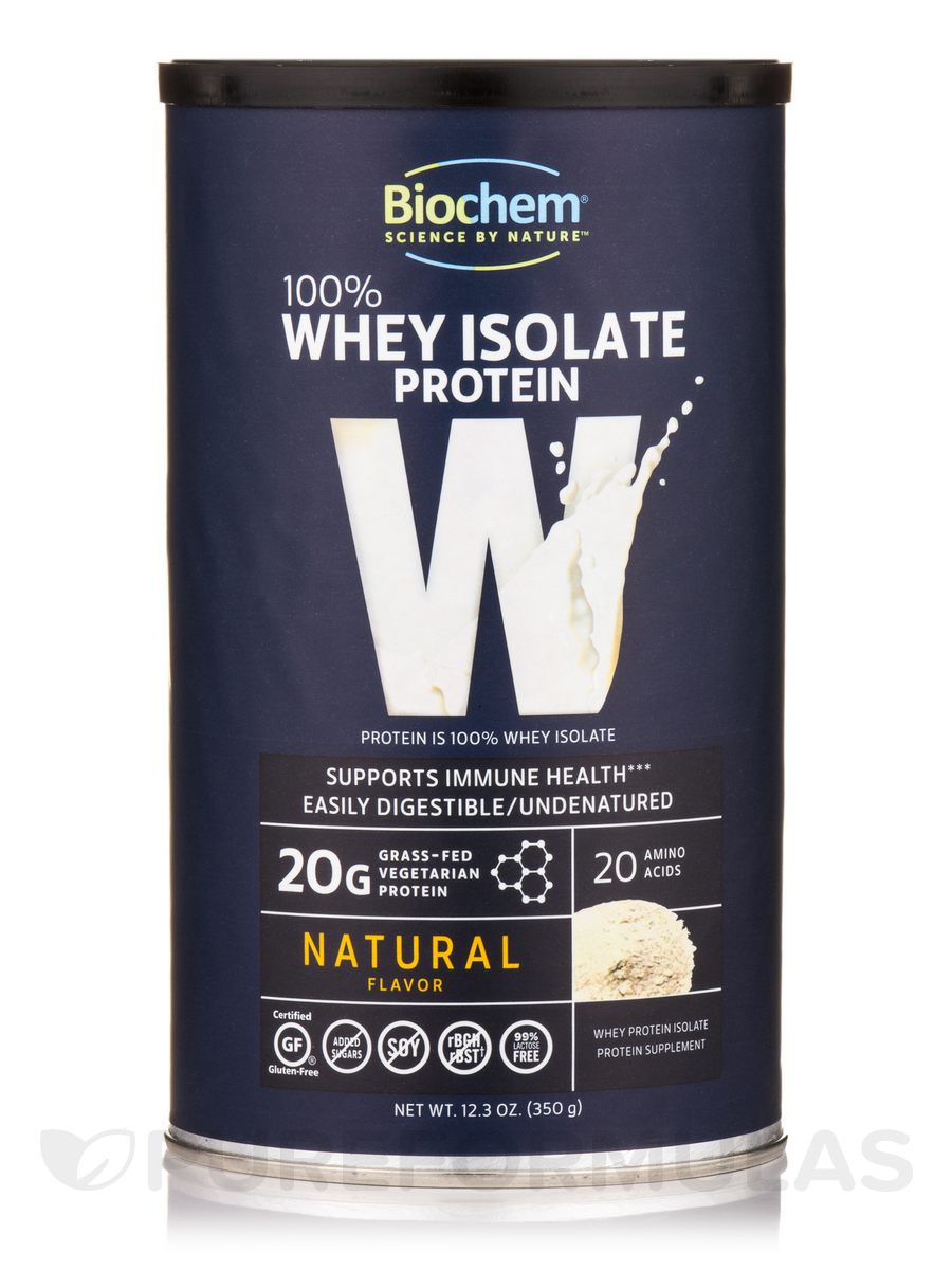 100% Whey Protein Powder, Natural Flavor - 12.3 oz (350 Grams)