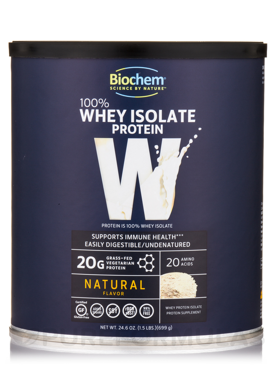 100% Whey Isolate Protein Powder, Natural Flavor - 24.6 oz (699 Grams)