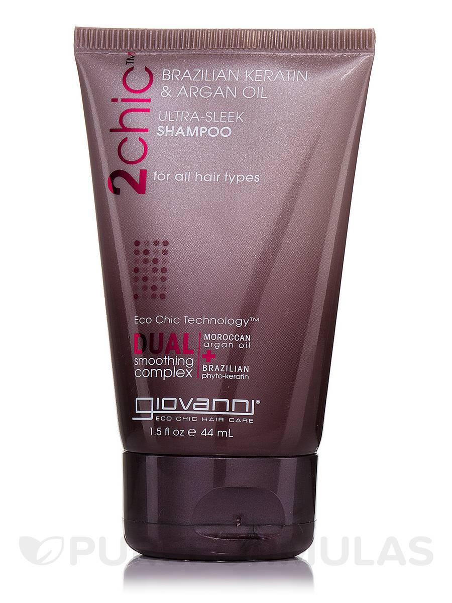 2chic Brazilian Keratin & Argan Oil Ultra-Sleek Shampoo Travel Size - 1.5 fl. oz (44 ml)