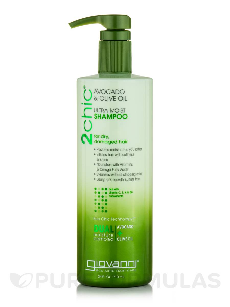 2chic Ultra-Moist Shampoo for Dry, Damaged Hair - 24 fl. oz (710 ml)