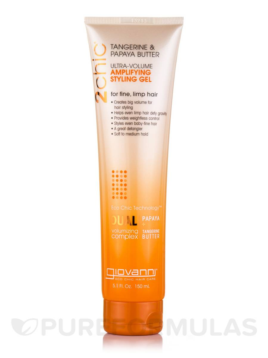 2chic Ultra Volume Amplifying Styling Gel with Tangerine & Papaya Butter - 5.1 fl. oz (150 ml)