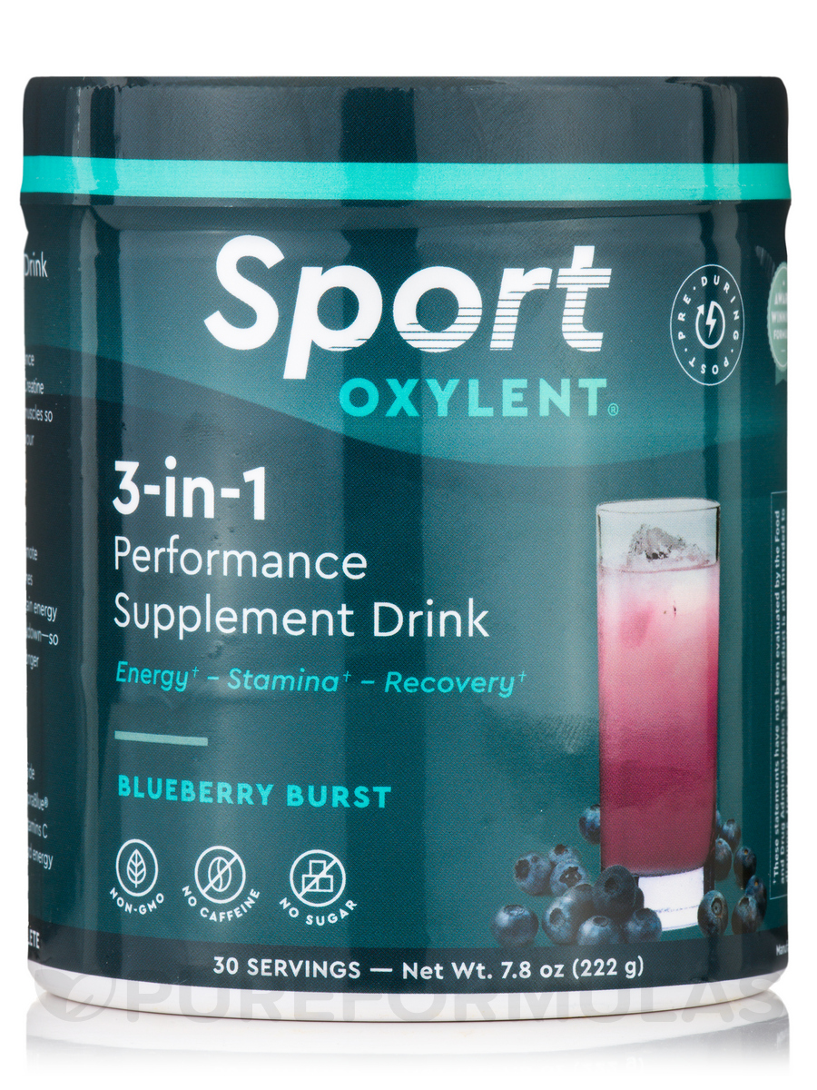 3-in-1 Performance Supplement Drink, Blueberry Burst - 30 Servings (7.8 oz / 222 Grams)