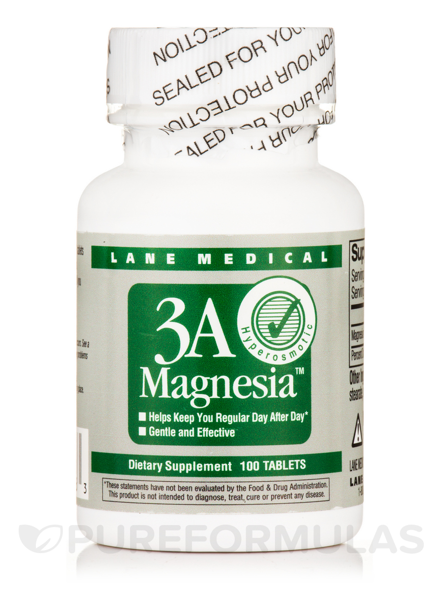 3A Magnesia - 100 Tablets