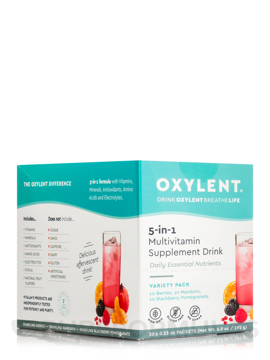 5-in-1 Multivitamin Supplement Drink, Variety Pack - 30 Packets (0.23 oz each)