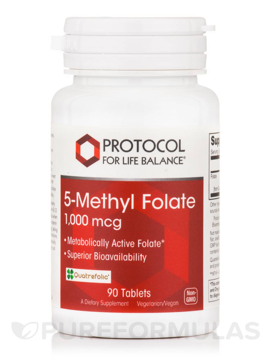 5-Methyl Folate 1,000 mcg - 90 Tablets
