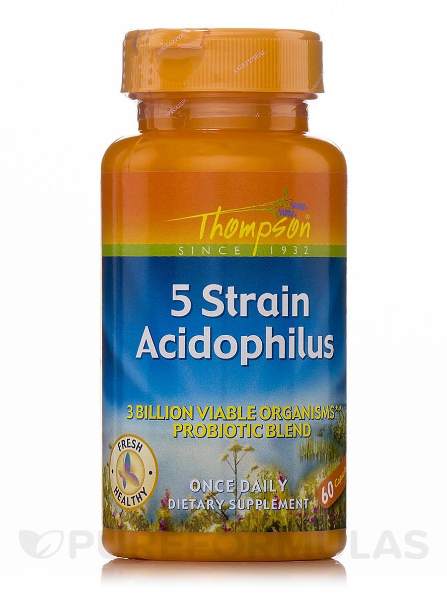 5 Strain Acidophilus - 60 Capsules