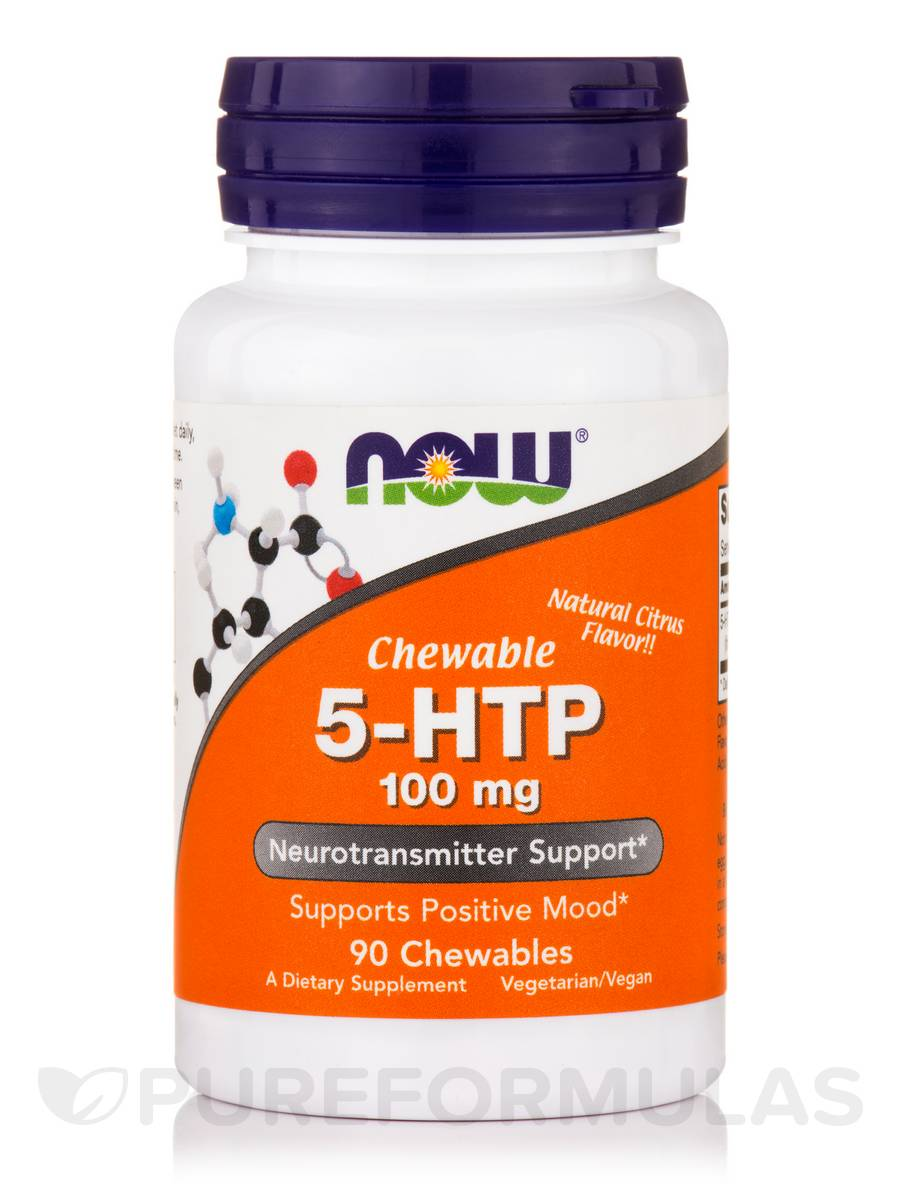 5-HTP 100 mg, Natural Citrus Flavor - 90 Chewable Tablets