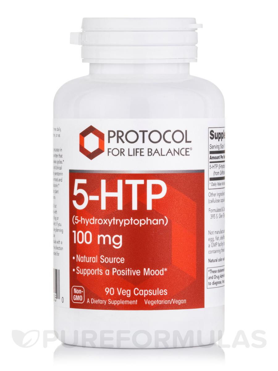 5-HTP 100 mg - 90 Vegetarian Capsules