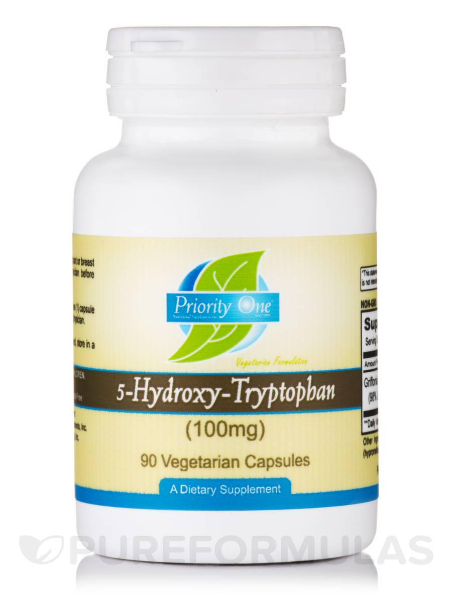 5-Hydroxy-Tryptophan 100 mg - 90 Vegetarian Capsules