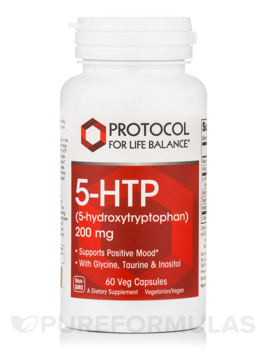 5-HTP (5-hydroxytryptophan) 200 mg - 60 Veg Capsules
