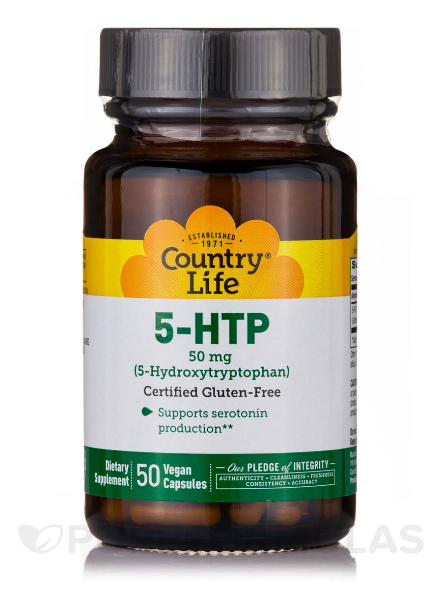 5-HTP Tryptophan 50 mg - 50 Vegan Capsules