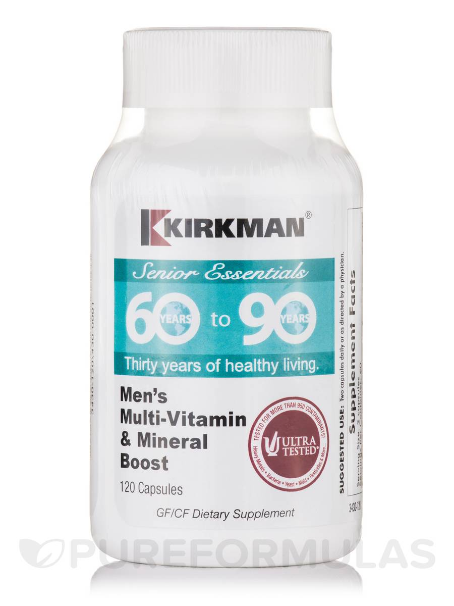 60 to 90 Men's Multi-Vitamin & Mineral Boost - 120 Capsules