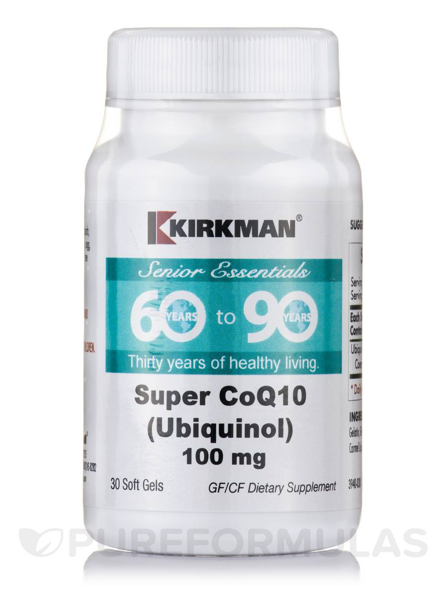 60 to 90 Super CoQ 100 mg (Ubiquinol) - 30 Soft Gels