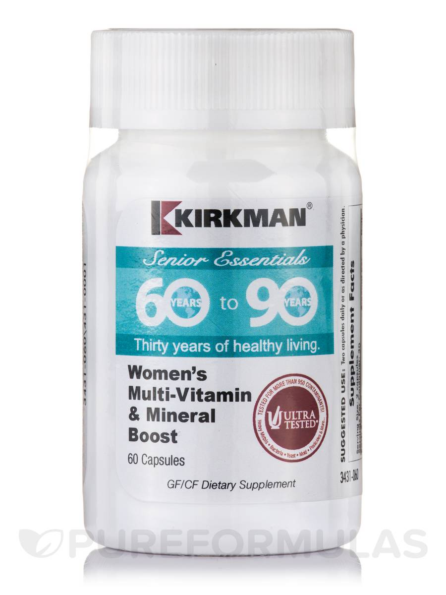 60 to 90 Women's Multi-Vitamin & Mineral Boost - 60 Capsules