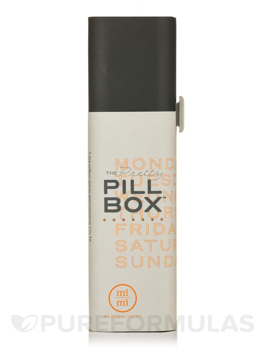 7-Day Pretty Pillbox, Steele - 6.5 x 1.5 x 1.2 inches